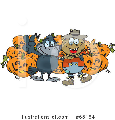 Royalty-Free (RF) Scarecrow Clipart Illustration by Dennis Holmes Designs - Stock Sample #65184