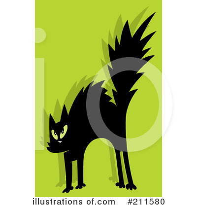 Scared Cat Clipart #211580 by Hit Toon