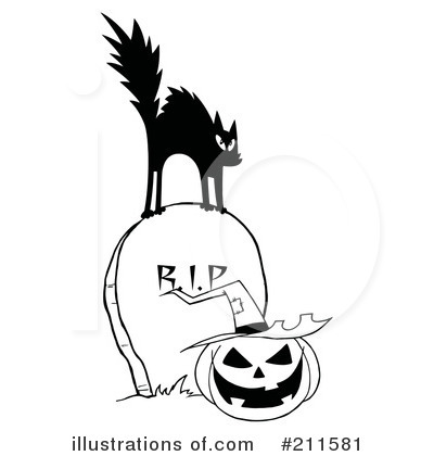 Royalty-Free (RF) Scared Cat Clipart Illustration by Hit Toon - Stock Sample #211581