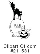 Royalty-Free (RF) Scared Cat Clipart Illustration #211581