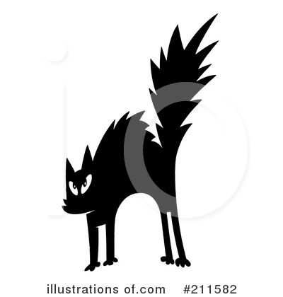 Scared Cat Clipart #211582 by Hit Toon