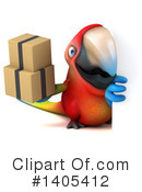 Scarlet Macaw Clipart #1405412 by Julos