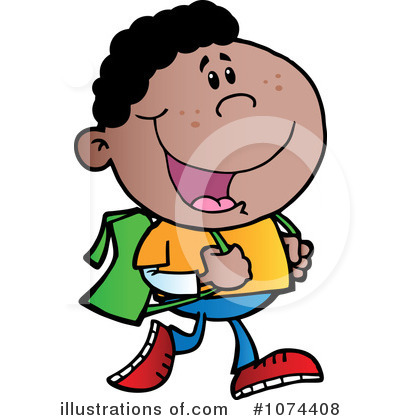 School Boy Clipart #1074408 by Hit Toon