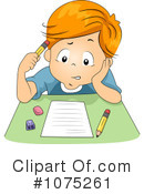Royalty-Free (RF) School Boy Clipart Illustration #1075261