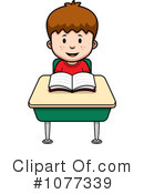 Royalty-Free (RF) School Boy Clipart Illustration #1077339