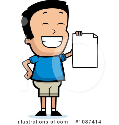 Student Clipart #1087414 by Cory Thoman