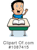 Royalty-Free (RF) school boy Clipart Illustration #1087415