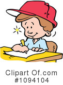 Royalty-Free (RF) School Boy Clipart Illustration #1094104