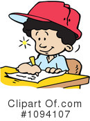 Royalty-Free (RF) School Boy Clipart Illustration #1094107