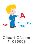 Royalty-Free (RF) School Boy Clipart Illustration #1096009