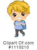 School Boy Clipart #1110210 by BNP Design Studio