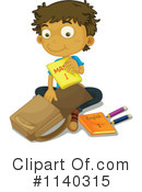 Royalty-Free (RF) School Boy Clipart Illustration #1140315
