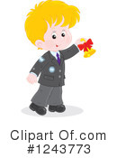 School Boy Clipart #1243773 by Alex Bannykh