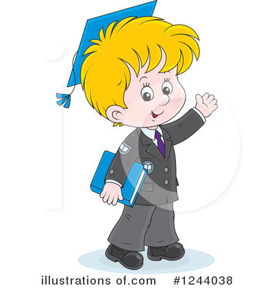 School Children Clipart #1244038 by Alex Bannykh