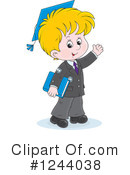 School Boy Clipart #1244038 by Alex Bannykh