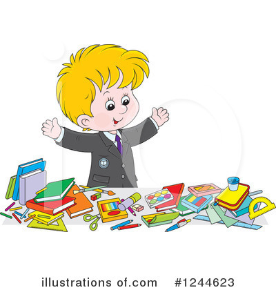 School Children Clipart #1244623 by Alex Bannykh