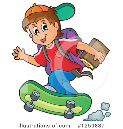 School Children Clipart #1259887 by visekart