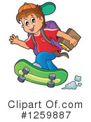 Royalty-Free (RF) School Boy Clipart Illustration #1259887