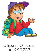 Royalty-Free (RF) School Boy Clipart Illustration #1299737