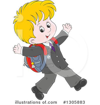 School Children Clipart #1305883 by Alex Bannykh