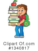 Royalty-Free (RF) School Boy Clipart Illustration #1340817