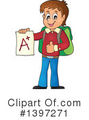Royalty-Free (RF) School Boy Clipart Illustration #1397271