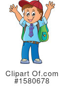 School Boy Clipart #1580678 by visekart