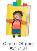 Royalty-Free (RF) School Boy Clipart Illustration #219107