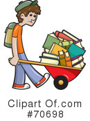 Royalty-Free (RF) School Boy Clipart Illustration #70698