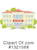 School Building Clipart #1321068 by Alex Bannykh