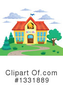 School Building Clipart #1331889 by visekart