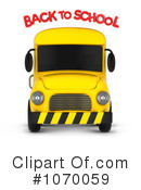 Royalty-Free (RF) School Bus Clipart Illustration #1070059