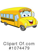 Royalty-Free (RF) School Bus Clipart Illustration #1074479