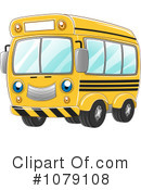 Royalty-Free (RF) School Bus Clipart Illustration #1079108