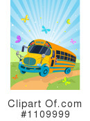 Royalty-Free (RF) School Bus Clipart Illustration #1109999
