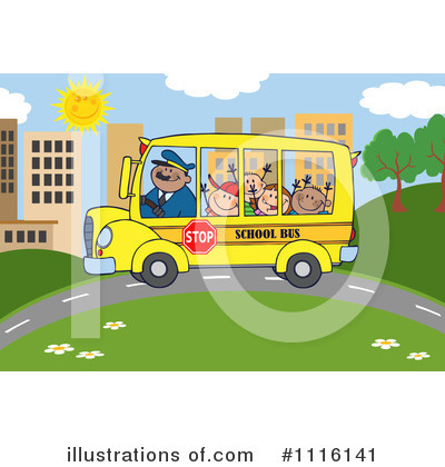 School Bus Clipart #1116141 by Hit Toon