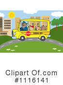 Royalty-Free (RF) School Bus Clipart Illustration #1116141