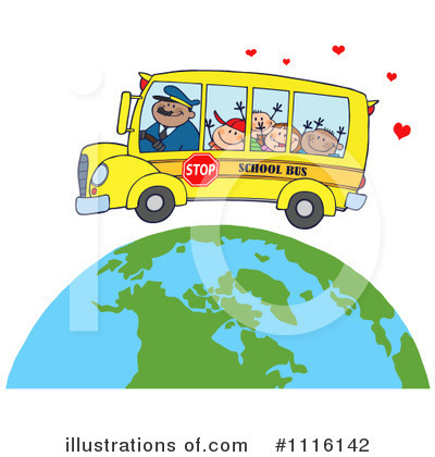 School Bus Clipart #1116142 by Hit Toon