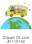 Royalty-Free (RF) School Bus Clipart Illustration #1116142