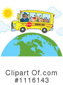 Royalty-Free (RF) School Bus Clipart Illustration #1116143