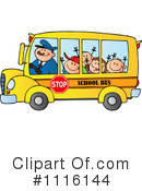Royalty-Free (RF) School Bus Clipart Illustration #1116144