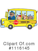 Royalty-Free (RF) School Bus Clipart Illustration #1116145
