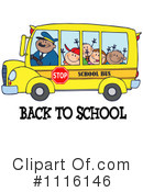 Royalty-Free (RF) School Bus Clipart Illustration #1116146