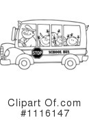 Royalty-Free (RF) School Bus Clipart Illustration #1116147