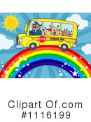 Royalty-Free (RF) School Bus Clipart Illustration #1116199