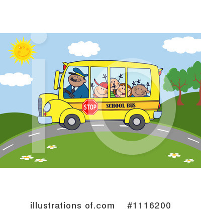 School Bus Clipart #1116200 by Hit Toon