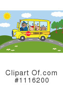 Royalty-Free (RF) School Bus Clipart Illustration #1116200