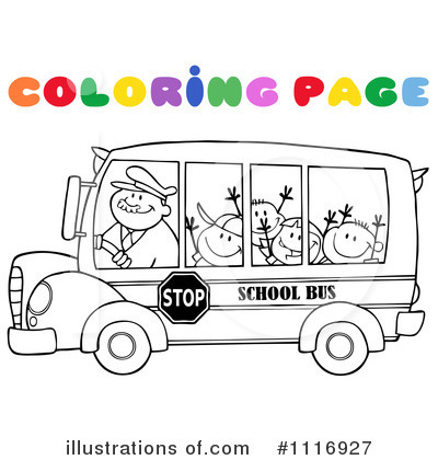 School Bus Clipart #1116927 by Hit Toon