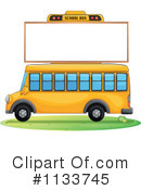 Royalty-Free (RF) School Bus Clipart Illustration #1133745