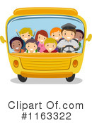 Royalty-Free (RF) School Bus Clipart Illustration #1163322